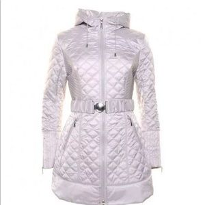 Dawn levy medium pebble quilted hooded coat